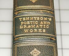 The Poetic & Dramatic Works of Alfred Lord Tennyson 1898 Cambridge Ed. Leather