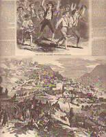 1860 Harpers Weekly - July 7 Garibaldi enters Palermo