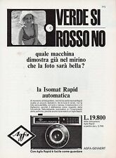 Pubblicità Advertising Werbung 1966 AGFA Isomat Rapid