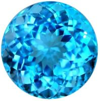 SKY BLUE TOPAZ 7 MM ROUND CUT AAA ALL NATURAL