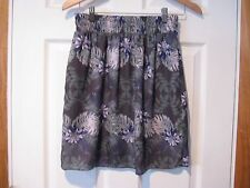 MOSSIMO skirt--women's S/P--A-line style---lined--floral print--EUC