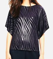 "€65 💠PHASE EIGHT 💠 SALOME SHIMMER NAVY JERSEY TOP -UK 10 /36"". BNWT"