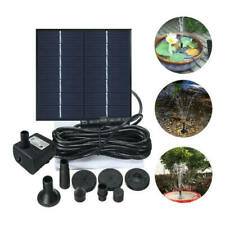 Solar Fountain Water Pump Panel Garden Pond Pool Submersible Watering Kit Fde