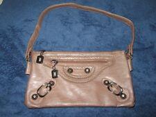 Wallet brown pleather shoulder bag clutch purse. Ex cond.