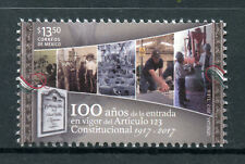 Mexico 2017 MNH Constitution Article #123 100th Anniv 1v Set Politics Law Stamps
