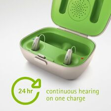 2(Rt & Lt) New Phonak Audeo B90R Rechargeable Hearing Aids include ComPilot II