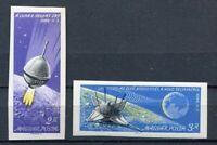 32235) HUNGARY 1966 MNH** Luna 9 - 2v Scott# 1738/39 imperforated