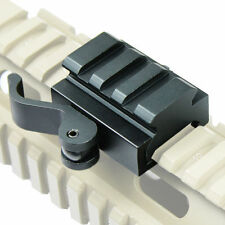 "3-Slot Quick Release Detach QR QD 1/2"" Mini Riser Block Mount for Picatinny Rail"