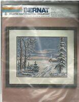 Vintage Bernat Winter Vespers H04502 Counted Half Cross Stitch Needlepoint NIP