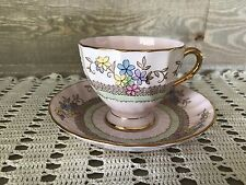 Tuscan Fine Bone China Tea Cup and Saucer Pink