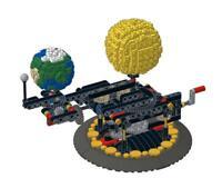 Lego Technic Planetarium Orrery - Earth, Moon and Sun Model kit complete set