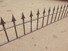 "NORTON RAILING PANEL 6ft LONG x 18"" TALL WROUGHT IRON METAL FENCING ANY SIZE"