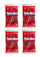 4 x packs strawberry Twizzlers grand sac de 198g american import candy fresh stock!