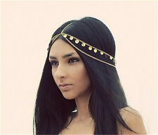 Hippie Retro Women Metal Rhinestone Chain Jewelry Headband Head Piece Hair band
