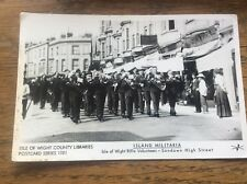 IOW Isle Of Wight County Libraries Postcard Military Rifle Volunteers Sandown
