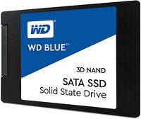 """Western Digital SSD WDS100T2B0A 1TB SATA III 6Gb/s 2.5"""" 7mm Blue 3D NAND Retail"""
