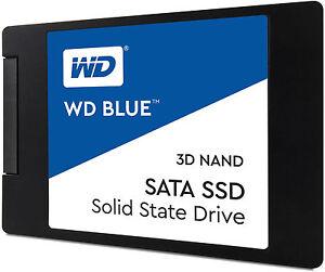 """Western Digital WD Blue 3D NAND SATA, 1TB, 2.5"""" Internal SSD (WDS100T2B0A)"""