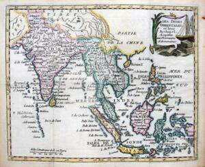 EAST INDIES ORIENTALES  BY DE LAPORTE c1786 SCARCE GENUINE ANTIQUE ENGRAVED MAP