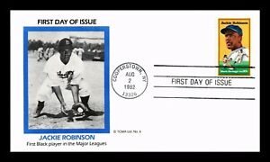 DR JIM STAMPS US JACKIE ROBINSON BASEBALL BLACK HERITAGE UNSEALED FDC COVER