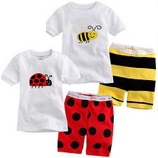 2Pcs Summer Baby Kids Boys Tops Shirt + Short Pants Tracksuit Outfits Casual Set