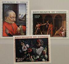 KONGO BRAZZAVILLE 1968 148-50 U ex C62-66 Paintings Gemälde Kunst Art MNH