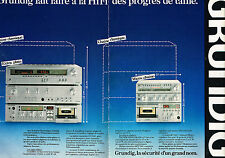 PUBLICITE ADVERTISING 114  1980  GRUNDIG   chaine hi-fi  ( 2 pages) micro-chaine