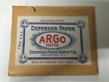 Antique Camera - Argo Developing Paper (5x4) - ca. 1910