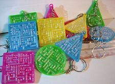 PLASTIC MAZE GAME KEY CHAINS LOT OF 12    2 INCHES