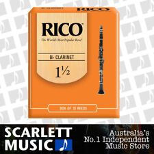 Rico Bb Clarinet 10 x Reeds, Strength 1.5 ( 1 1/2 ) 10-pack RCA1015 by D'addario