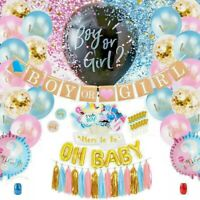 Gender Reveal Party Supplies Kit - Baby Shower Boy or Girl  Decorations Set