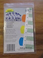 50 White Tab-N-Dex Removable tabs with removable adhesive durable & reusable!