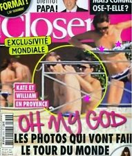 CLOSER MAGAZINE KATE MIDDLETON PRINCE WILLIAM PHOTO SCANDAL ISSUE  NEW UNREAD