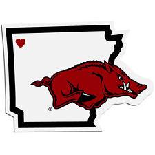 Arkansas Razorbacks Home State Vinyl Auto Decal NCAA Licensed