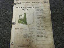 Clark Model C500-30 Forklift Lift Truck Parts Catalog Manual Book