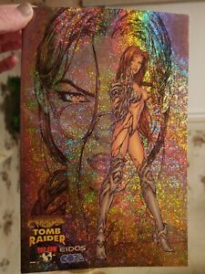 WITCHBLADE / TOMB RAIDER SPECIAL #1 NM SPECKLE HOLOFOIL gold foil EDITION 1998