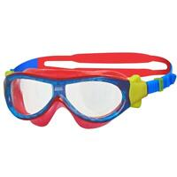 Zoggs Phantom Kids Mask In Blue/Red For Swimming For Children 1-6 Years