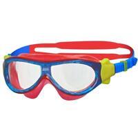 Zoggs Phantom Kids Mask In Blue/Red For Swimming For Children 1-6 Years