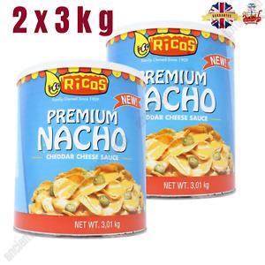 Ricos Premium Nacho Cheddar Käse Sauce Dose Groß Perfekt Für Partys Neu