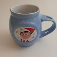 Elf On The Shelf Hot Chocolate Cup Mug Christmas Blue Christmas Holiday