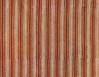 2½ Yards Striped Hand Block Printed Cotton Natural Dyes Artisan Fabric Dark Red