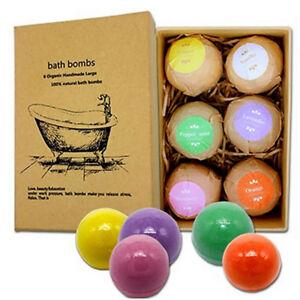 6pcs Women Men Scented Bubble Bath Bomb Salt Essential Oil Balls Set Kit