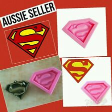 Superman Silicone Mould Mold Fondant  Chocolate Cup Cake Sugarcraft Resin