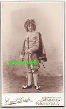 CdV Foto Schauspieler im Kostüm Emil Lieske Sebnitz Schandau um 1900 ! (F1952