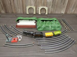 Vintage LIMA Lot 4547 Steam Locomotive Coaches Tracks TRAIN SET Accessories Toy