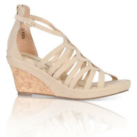 SUMMER PLATFORM WEDGE HOLIDAY WOMEN'S SANDALS CUT OUT GLADIATOR SHOES