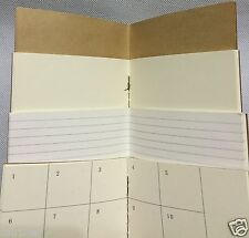 A5 1 Blank Paper Refill For Standard Midori Traveler's Journal Diary Note Book
