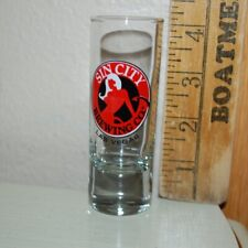 """New listing Sin City Brewing Co. Las Vegas shot glass, 4"""" tall, excellent condition"""