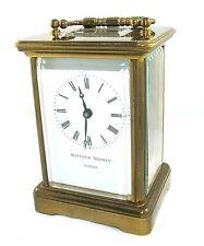 Matthew NORMAN Londra SWISS MADE IN OTTONE CARROZZA orologio con chiave: lavoro (49)