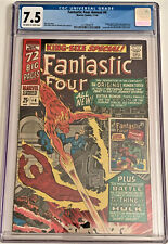Fantastic Four annual #4 11/66 CGC 7.5 OW/W pgs (Origin & 1st SA app. GA Torch)