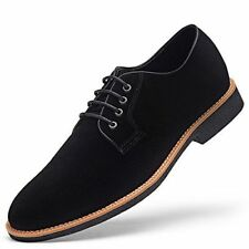 NWT GM GOLAIMAN Mens Suede Leather Oxford Shoes Casual Lace Up Dress Shoes Black